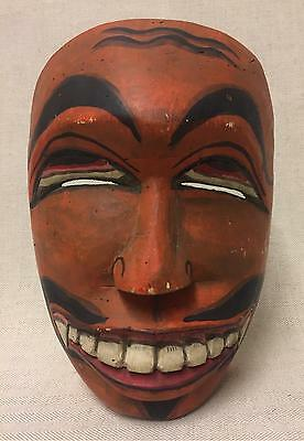 Old Tribal Ceremonial Carved Wooden Mask, Balinese Art, Folk Art Rare