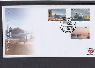 Malta 2013 Maritime Day ships First Day Cover FDC Jum ll-hrug pictorial h/s
