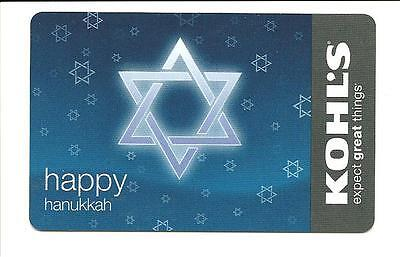 Kohl's Happy Hanukkah Gift Card No $ Value Collectible Kohls