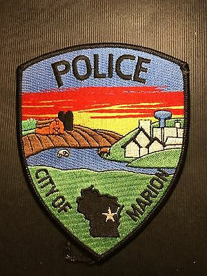 City Of Marion Wisconsin Police  Shoulder Patch