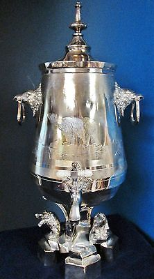 Antique Figural POLAR BEAR Ice Water Urn Silverplate 1862-77 Spectacular Find!