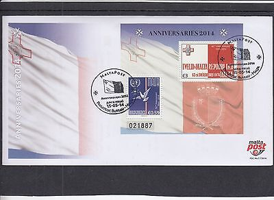 Malta 2014 Anversaries - Independence & Republic First Day Cover FDC