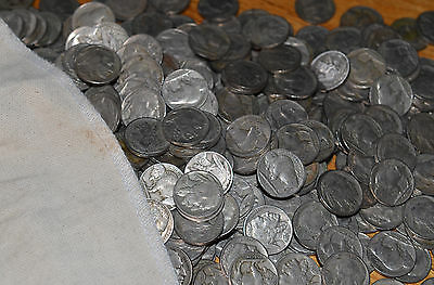 Bag Of 1,000 Buffalo Indian Head Nickels Mixed Date Coins Full Dates Circulated