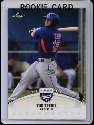 2016 Tim Tebow Leaf Baseball Rookie Card Rc Ny New York Mets Prospects Draft #2