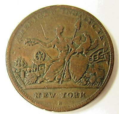 1836 American Institute Ny New York Hard Times Token - R & W Robinson Coin