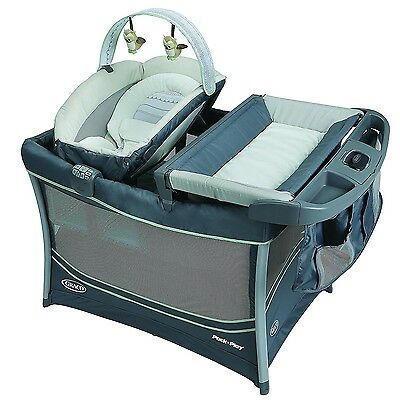 Graco 3-in-1 Pack 'n Play Playard Everest w/ Bassinet & Changing Station, Mason