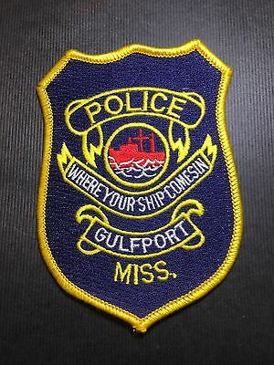 Gulfport Mississippi Police Shoulder Patch