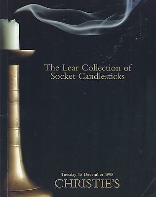CHRISTIE'S LONDON LEAR COLLECTION OF SOCKET CANDLESTICKS Auction Catalog 1998