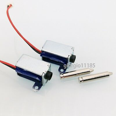 2 pcs DC 3~12V Push Pull Type Solenoid Electromagnet Micro Solenoid New