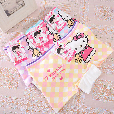 4 Pcs Packed Cat B Cotton Children Girl's Briefs Panties Underpants 4-10 Years