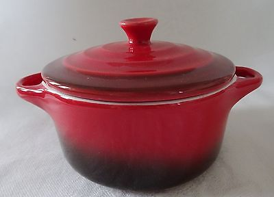 DENBY Lot of 4 Individual Covered Casserole Dishes RED Home Essentials