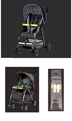 6pcs baby stroller REFLECTIVE STRIPES outside at night safety accessory