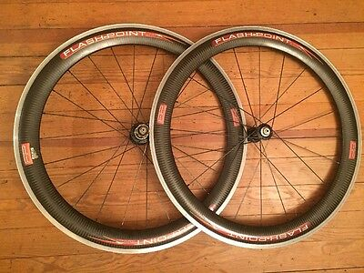 Zipp Flashpoint FP60 Carbon Clincher Aero 700c Road Bike Wheelset Shimano