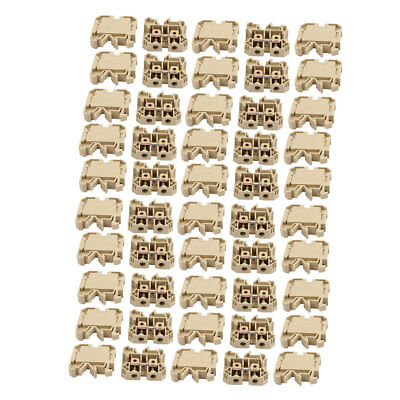 50pcs 52x50x12mm 800V 76A 16mm2 SAK-16EN DIN Rail Terminal Block Connector Khaki