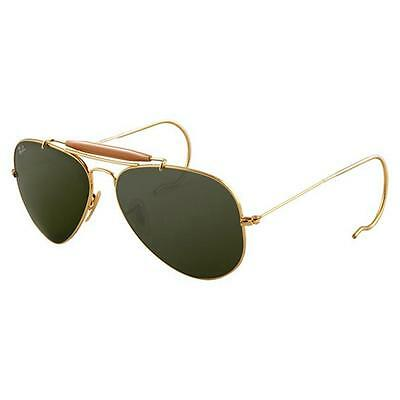 NEW Authentic Ray-Ban Sunglasses OUTDOORSMAN RB 3030 L0216 Gold Grey Green