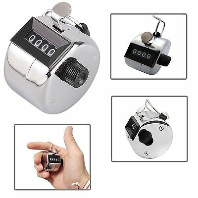 Mechanical Hand Tally Number Counter Click Clicker 4 Digit Counting Manual 7306
