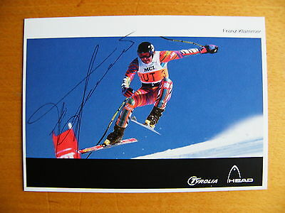Franz Klammer Hand Signed Autograph Official Photo Card Olympic Skiing & Coa