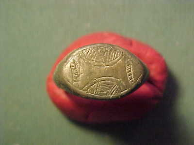 Medieval bronze ring with engraving circa 14th/15th century
