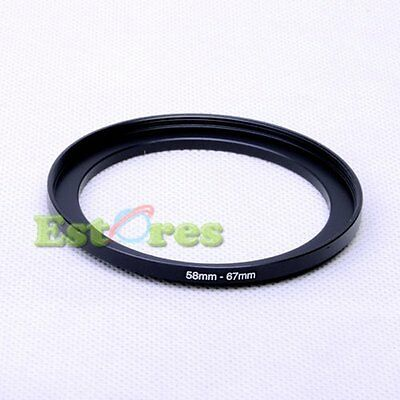 58mm-67mm 58-67 mm 58 to 67 Metal Step-Up Lens Filter Ring Adapter Black