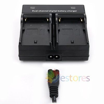Dual Channel Battery Charger For Sony NP-F550 NP-F750 NP-F960 NP-F970 Battery