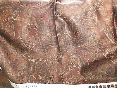 "3.5 yards Ralph Lauren 'Home' paisley design fabric Gorgeous! 54"" wide."