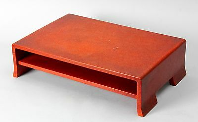 Japanese  Art Deco Red Lacquered  wooden table  KADAI/ I43