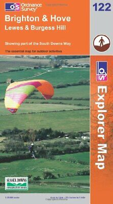 Brighton and Hove (Explorer Maps) (OS Ex... by Ordnance Survey Sheet map, folded