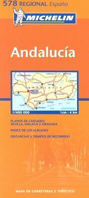 Andalucia (Michelin Regional Maps) Sheet map, folded Book The Cheap Fast Free