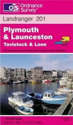 Landranger Map 201 Plymouth and Launcest... by Ordnance Survey Sheet map, folded