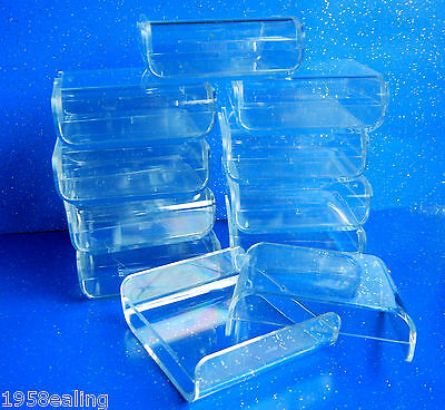 10 Clear Perspex Display Specimen Square Boxes Fossil Crystals 60 x 60mm. £6.25