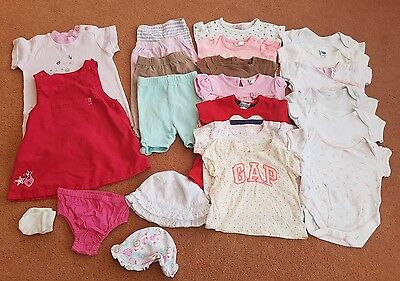 0-3 month baby girl summer bundle