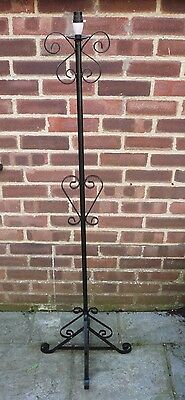 Vintage Wrought Iron Floor Standing Candle Holder Standard Lamp Light Steampunk