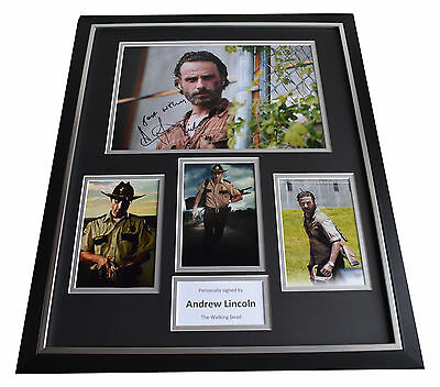 Andrew Lincoln SIGNED FRAMED Photo Autograph Huge display Walking Dead TV & COA