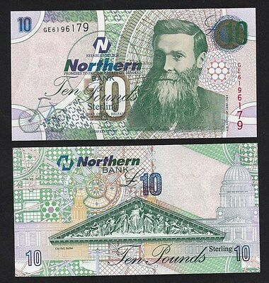 Northern Ireland 10 Pounds (2005) P206a Northern Bank banknote - UNC