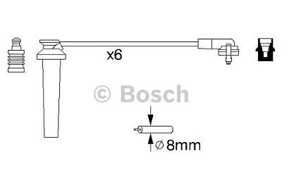 New Genuine Bosch - Ignition Cable / Ht Lead Kit - 0986356959