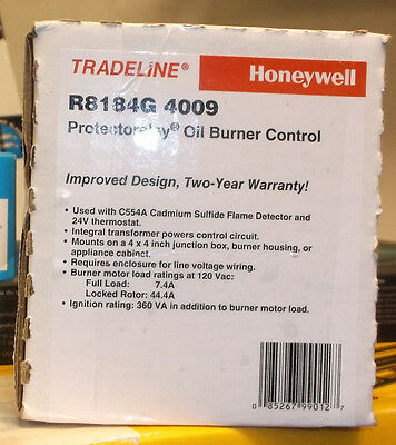 New Honeywell R8184G 4009 Protectorelay Oil Burner Control