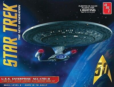 AMT 1:1400 Star Trek USS Enterprise 1701-D Clear Model Kit AMT955