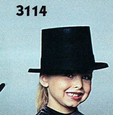 NEW/box 2 DOZEN Dance COSTUME Plastic Beistle Black Velour Top Hats #66634