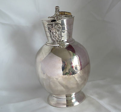 Antique silver plated hot water jug by James Dixon & Sons