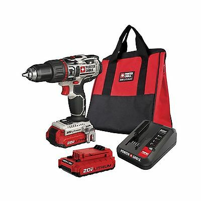 PORTER-CABLE PCC620LB 20V MAX Lithium Ion Hammer Drill Kit New