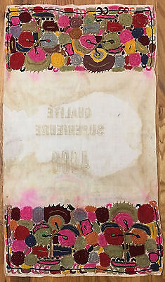 Antique 19th C. Beautiful Middle Eastern Embroidered French Fabric (8490)