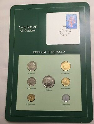 Seven Coin Set 1974 Uncirculated Kingdom Of Morocco (1980 5 Dirhams)