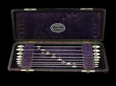 Antique Urethral Dilator Set  Truax Greene  Complete Cased Set  Medical  Ouch!