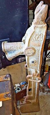 Antique Tool SIMPLEX 329 15 TON Railroad HOUSE BARN JACK Fence Post Puller Old