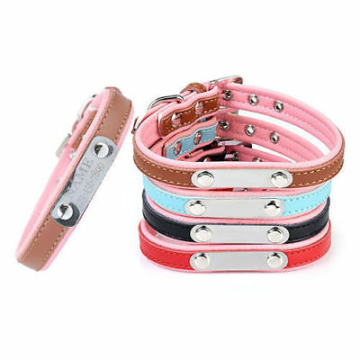 Custom Made Personalised Pet Dog Cat Safety Collar Engraved Name ID Phone Number