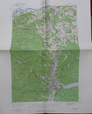 Folded Color Map Eagle Lake Maine Aroostook County Fort Kent Soldier Pond 1963