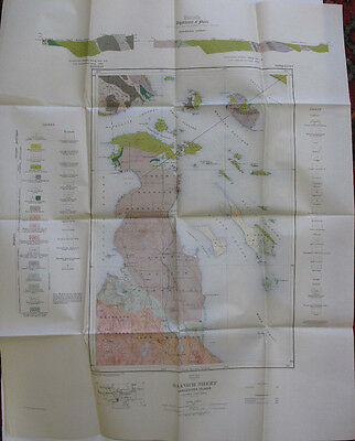 Color Map Saanich Vancouver Island British Columbia Canada Sidney Tod Inlet 1914