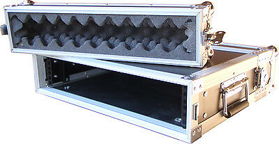 "Speed Case 2RU 19"" effects rack case flightcase / shallow NEW"