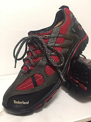 TIMBERLAND Outdoor Performance Black/Red Hiking Athletic Shoes Men's 8M