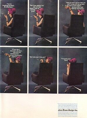 Executive posture chair by Jens Risom Design ad 1961